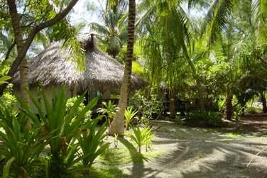 Avec ses bungalow disséminés dans le jardin