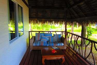 et le petit coin salon des bungalows lagon