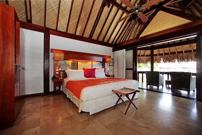 bungalow supérieur vue lagon