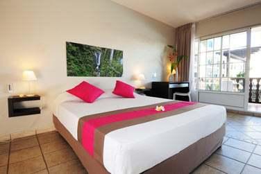 Les chambres sont situées tout en haut des villas, sous les combles