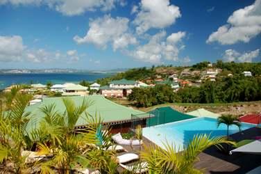 Et une vue imprenable sur la mer des Caraïbes !