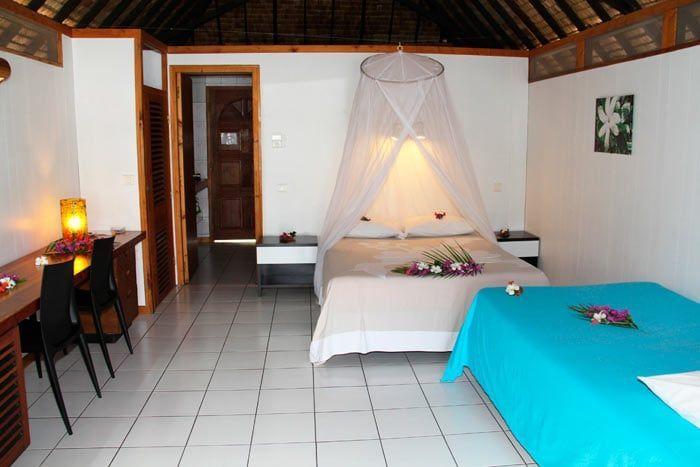 bungalow vue lagon (kitchenette)