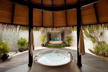 Salle de bain de la Deluxe Beach Villa