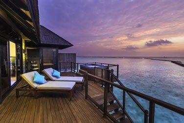 La terrasse d'une 'Horizon Water Villa'
