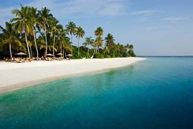 Les plages de sable blanc bordées de cocotiers...