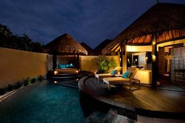 La terrasse et piscine privée d'une 'Pool Beach Villa'