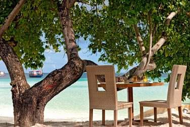 Ou bien laissez-vous tenter par un déjeuner les pieds dans le sable au restaurant Manta sur la plage
