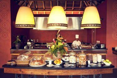 Le buffet exotique du petit déjeuner
