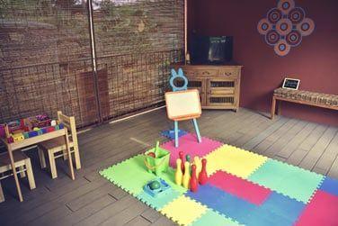 La salle de jeux pour divertir les plus petits