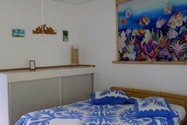 L'intérieur d'une des chambres, simple et confortable