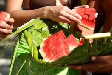 La spécialité de Maupiti ses succulentes pastèques ..