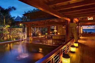 Le restaurant 'Floating Market' proposant une cuisine d'Asie du sud-est...