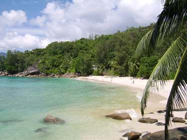 Ce petit guest house loin de la foule est posé sur la superbe plage d'Anse Soleil