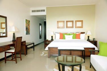 Les chambres sont modernes et bien décorées