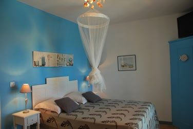 La chambre Océan et sa déco aux nuances de bleu