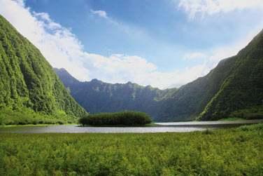 Le grand étang, magnifique paysage des cirques de la Réunion