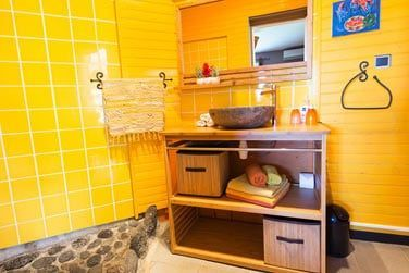 La salle de bain de la chambre Volcan