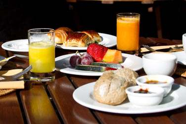 Le petit déjeuner du restaurant le Jardin des Orchidées