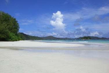 Vous pourrez découvrir les magnifiques plages de sable blanc de Praslin !