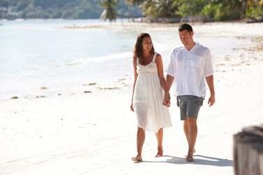 Balade romantique sur le bord de la plage ... c'est possible au Paradise Sun !