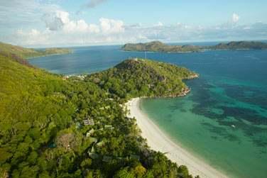 de l'île de Praslin aux Seychelles
