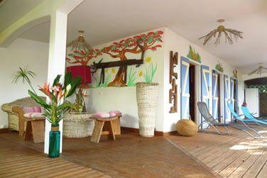 La villa Kanouan et sa terrasse extérieure