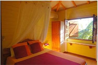 Villa P'tite Anse : la chambre