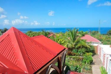 Villa lagalante : Vue sur la mer depuis la terrasse