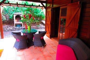 Villa P'tite Anse :le coin salon exérieur
