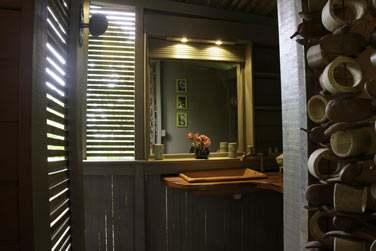 Salle de bain de la Cabane de Dimitri