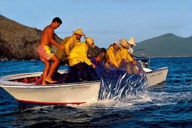 Une partie de pêche à la Saintoise vous sera peut être proposée...