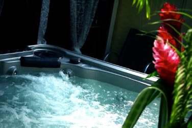 Quand à vos fins de journées , elles seront bercées par un petit bain dans votre spa privatif