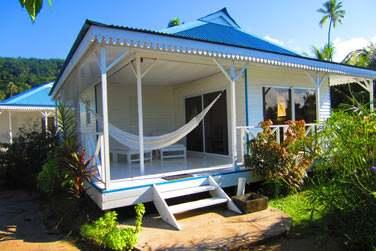 Dans ses superbes bungalows...