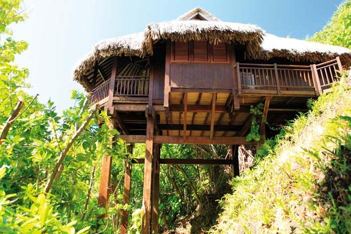 luxury lagoon view lodge bungalow