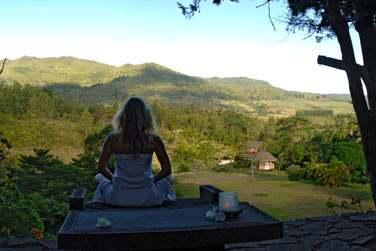 Le site et la vue imprenable sur la nature environnante en font un lieu propice à la méditation