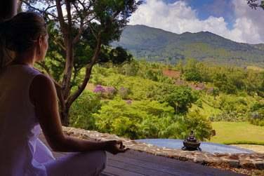 En pleine nature, Lakaz Chamarel est idéal pour des instants de méditation...