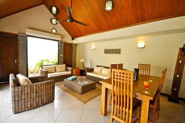 Les Villas 1 chambre sont très spacieuses et idéales pour un séjour en couple en toute liberté