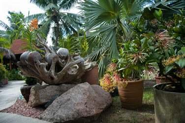 Discrètement caché dans un jardin tropical