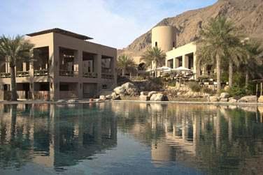 L'architecture de l'hôtel rappelle les villages traditionnels omanais