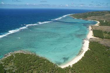 Le lagon de Rodrigues est immense... Ici, le lagon de St François