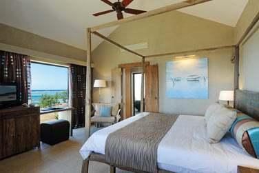 Les chambres côté mer décorées avec beaucoup de goût