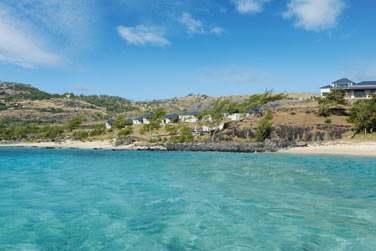 L'hôtel surplombe la sublime plage de Anse Ally