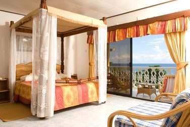 Les chambres supérieures avec une superbe vue sur la mer