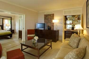 Le coin salon de la Villa Suite, très spacieuse