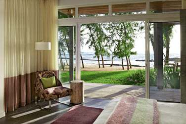 La terrasse de la Suite Deluxe Front de mer