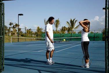 Des terrains de tennis sont à votre disposition