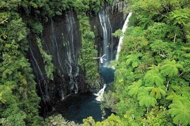 des cascades spectaculaires,