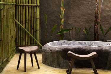 et sa salle de bain tournée vers la nature.