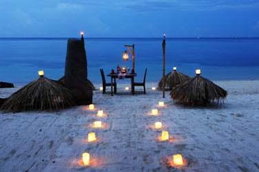 Ou un dîner sur la plage en amoureux...