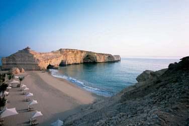 L'hôtel Al Husn possède sa propre plage privée, uniquement réservée aux résidents de l'hôtel Al Husn